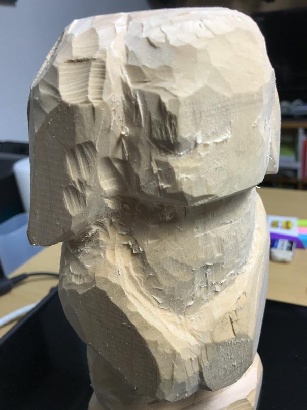中彫りくらいの頭部