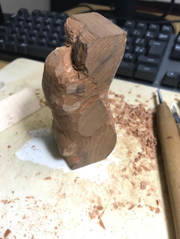 彫り始め2