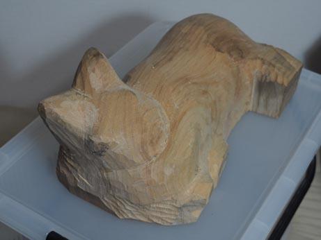 今日の木彫り