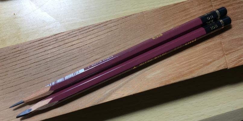 10Bと9Hの鉛筆