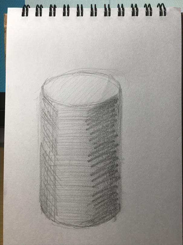 面取りな円柱
