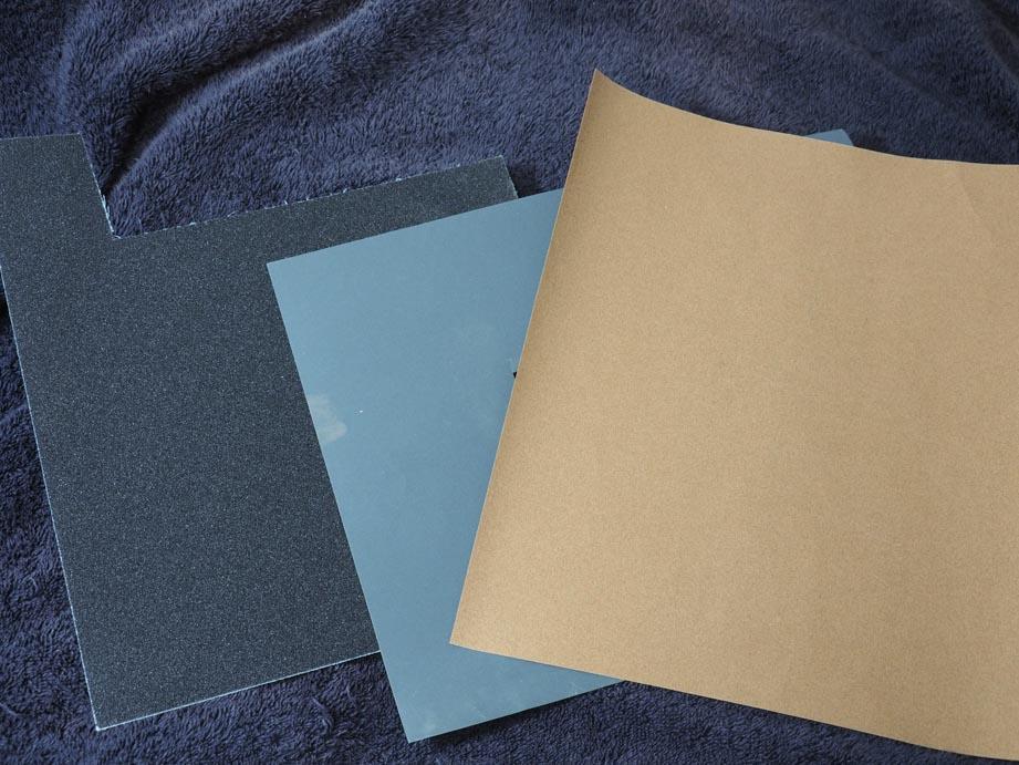 布やすり、耐水ペーパー、紙やすり