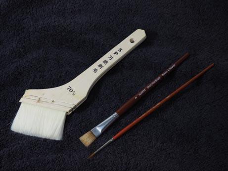 木彫の着色道具