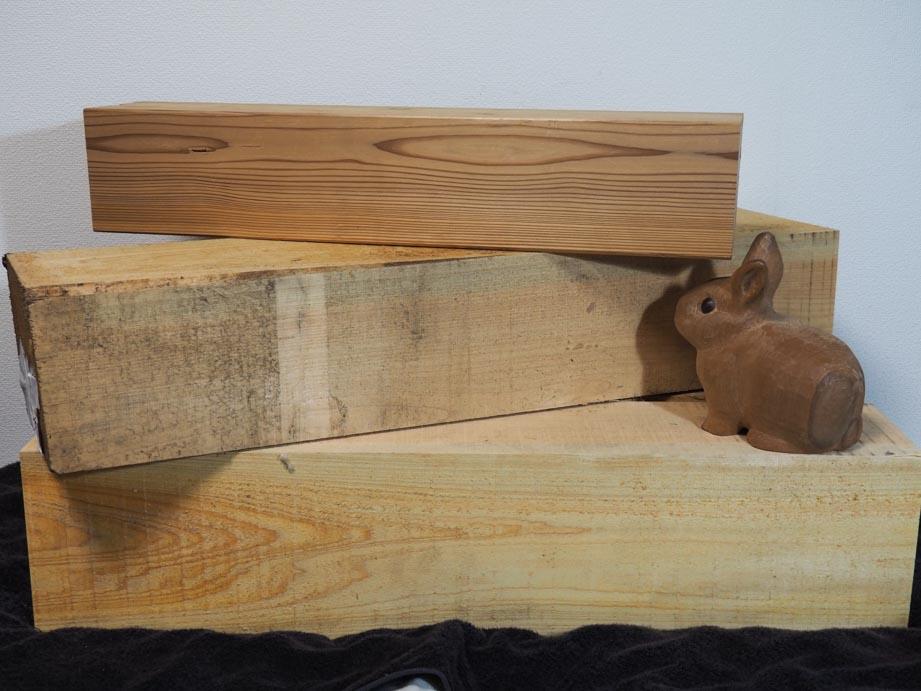 檜材と多摩産杉材
