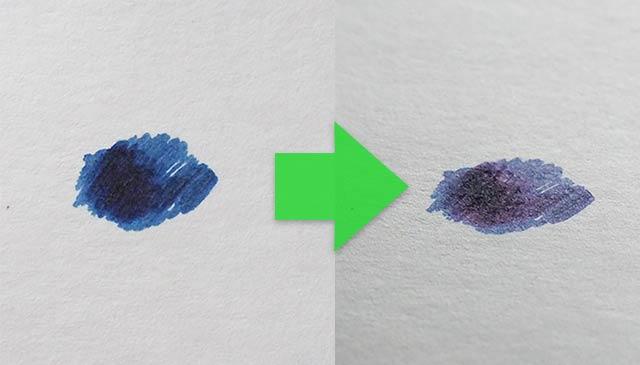青インクのレッドフラッシュ